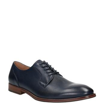 Modré kožené poltopánky bata, modrá, 826-9997 - 13