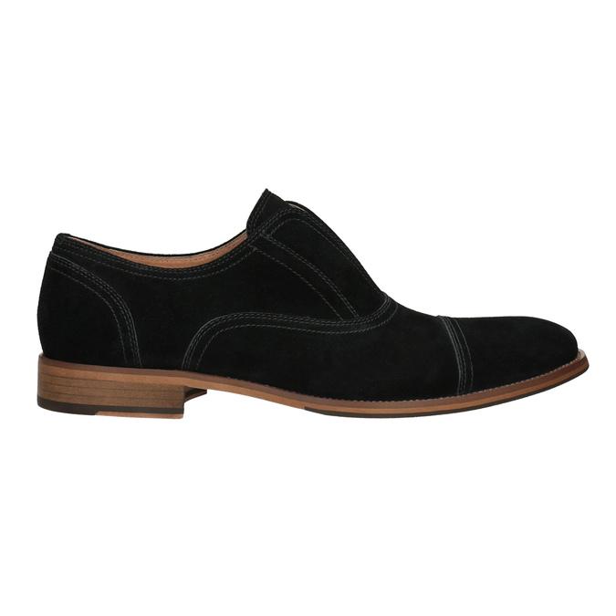Poltopánky typu Oxford z brúsenej kože bata, čierna, 823-6618 - 26