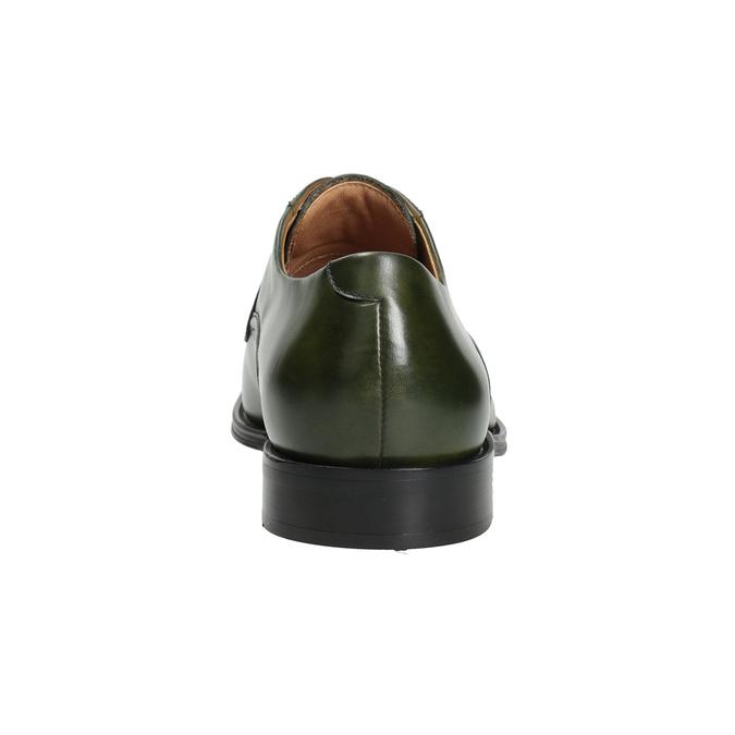 Pánske zelené kožené poltopánky bata, zelená, 826-7857 - 16