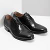Čierne kožené Derby poltopánky bata, čierna, 824-6863 - 26