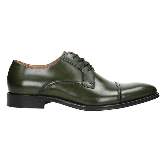 Pánske zelené kožené poltopánky bata, zelená, 826-7857 - 26