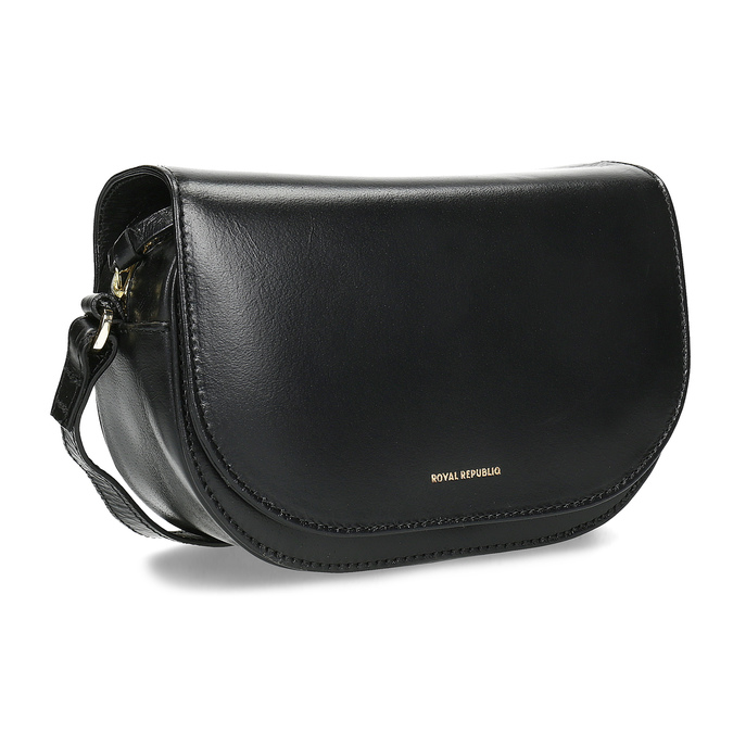 Kožená kabelka s klopou royal-republiq, čierna, 964-6084 - 13