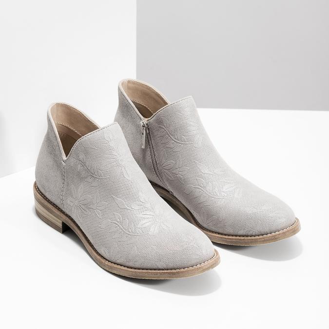 Členkové dámske čižmy bata, šedá, 596-2685 - 26