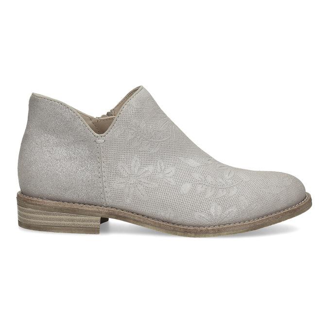 Členkové dámske čižmy bata, šedá, 596-2685 - 19