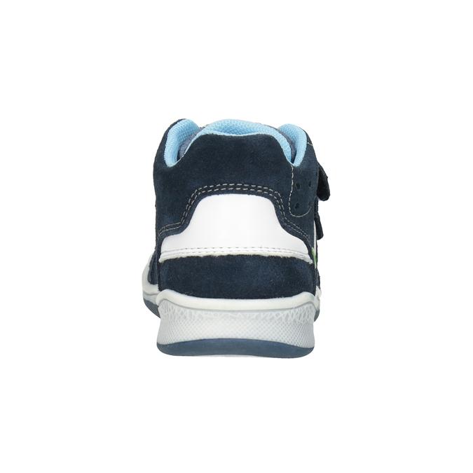 Detská kožená členková obuv bubblegummers, modrá, 113-9603 - 16