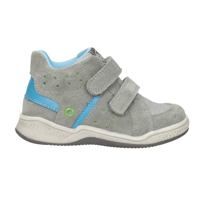 Kožená detská členková obuv bubblegummers, šedá, 113-2603 - 26