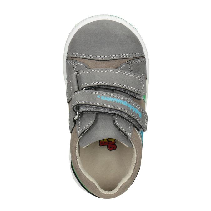 Detské tenisky na suchý zips bubblegummers, šedá, 111-2625 - 15