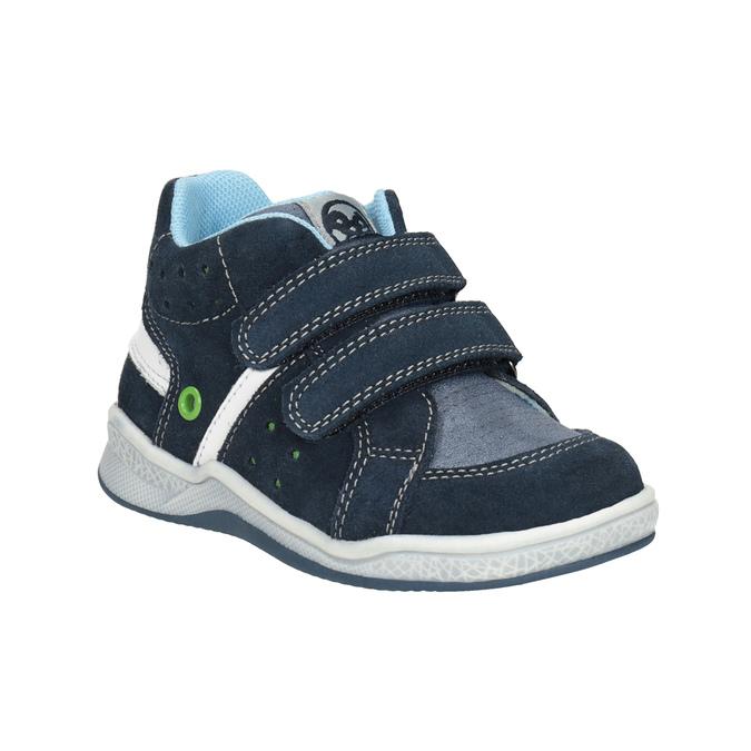 Detská kožená členková obuv bubblegummers, modrá, 113-9603 - 13