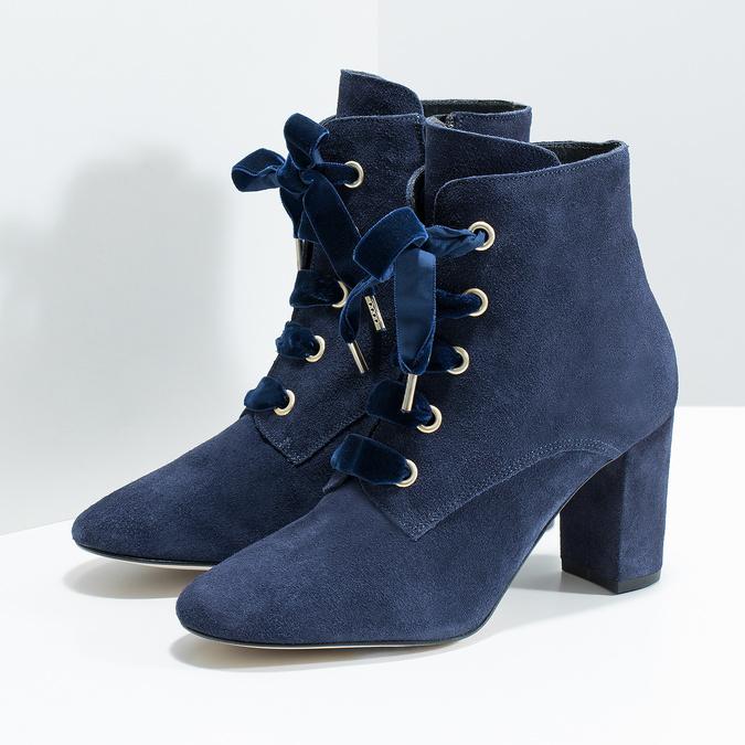 Členková kožená obuv s mašľou bata, 793-9613 - 16