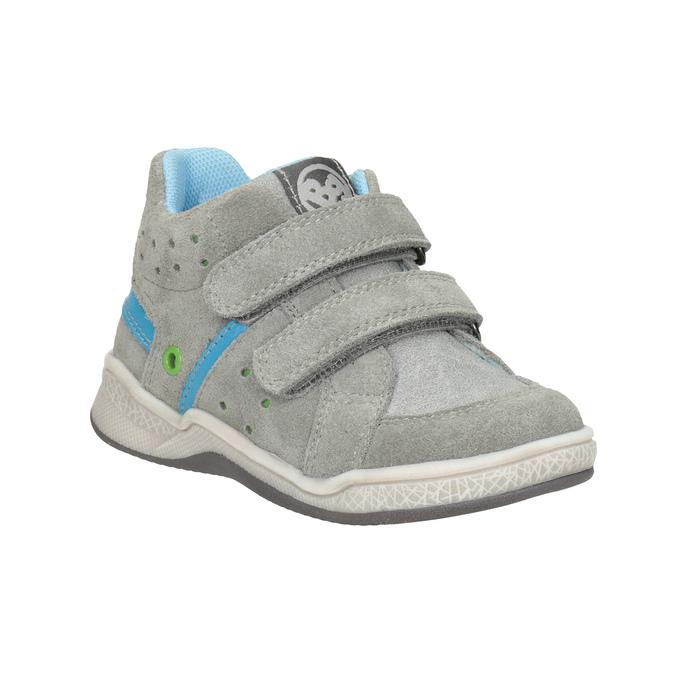 Kožená detská členková obuv bubblegummers, šedá, 113-2603 - 13