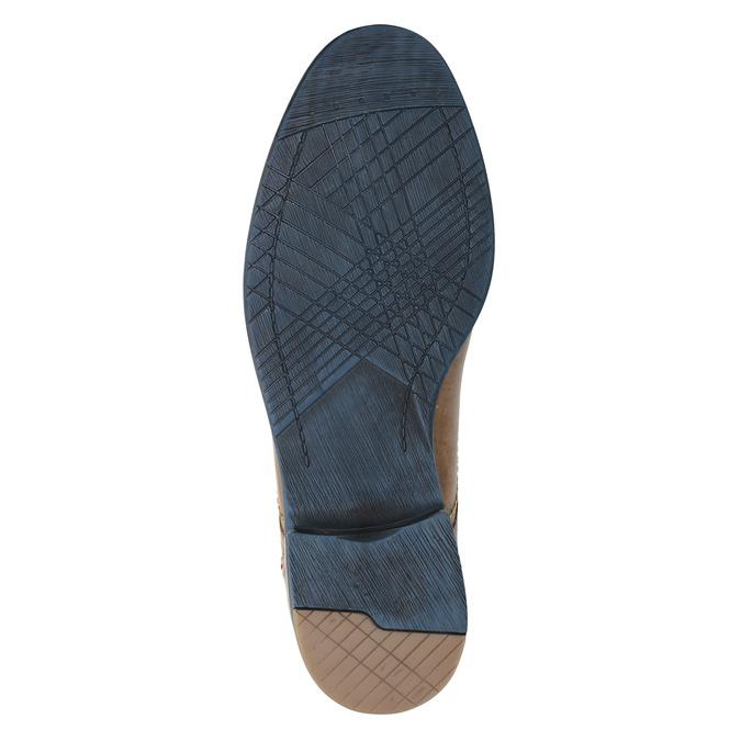 Kožené poltopánky s farebnými šnúrkami bata, hnedá, 826-4928 - 17
