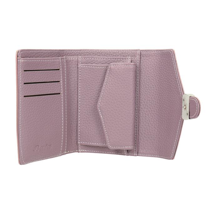 Ružová peňaženka s kovovým detailom bata, ružová, 941-9213 - 15