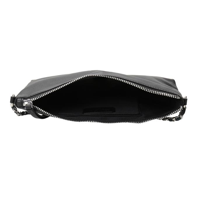 Čierna kožená Crossbody kabelka bata, čierna, 964-6292 - 15