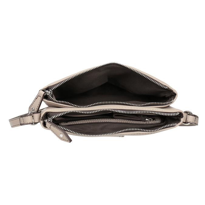 Dámska Crossbody kabelka s prackou bata, šedá, 961-2683 - 15