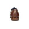 Pánske kožené poltopánky so štruktúrou bata, hnedá, 826-3825 - 15