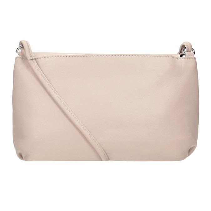 Krémová kožená kabelka bata, ružová, 964-9291 - 16