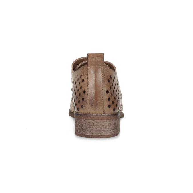 Dámske poltopánky s perforáciou bata, 521-4610 - 15