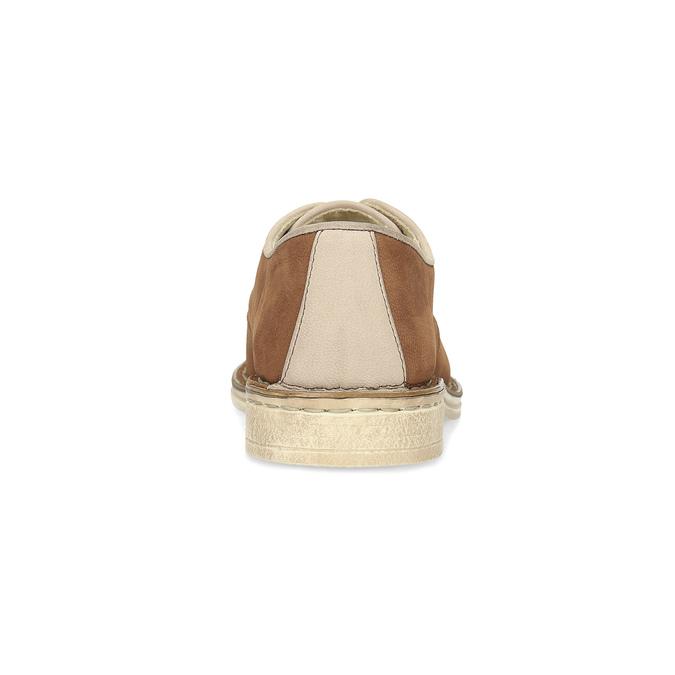 Dámske kožené poltopánky v ležérnom štýle bata, hnedá, 526-4652 - 15
