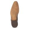 Pánske kožené poltopánky so štruktúrou bata, hnedá, 826-3825 - 18