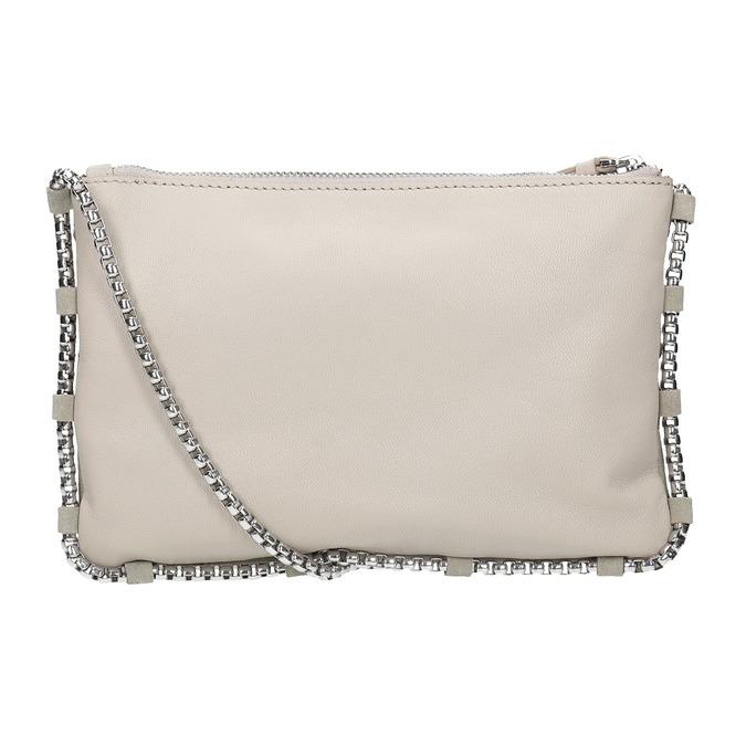 Kožená dámska Crossbody kabelka bata, biela, 963-1193 - 16
