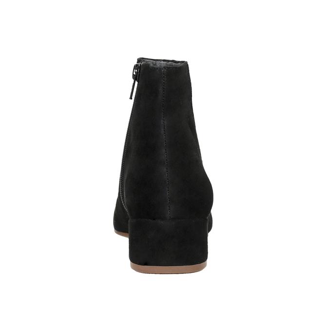 Členkové čižmy z brúsenej kože vagabond, čierna, 613-6040 - 16