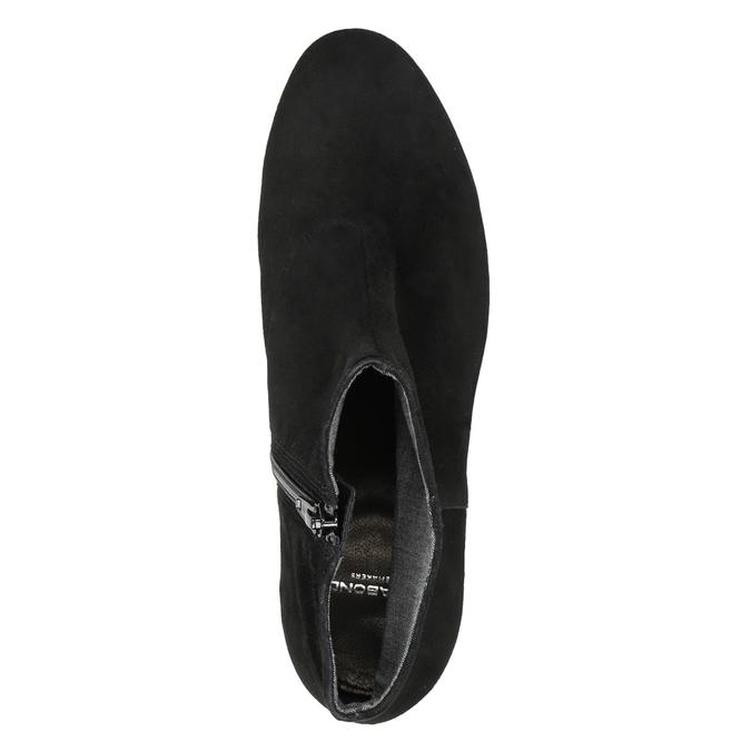 Členkové čižmy z brúsenej kože vagabond, čierna, 613-6040 - 15