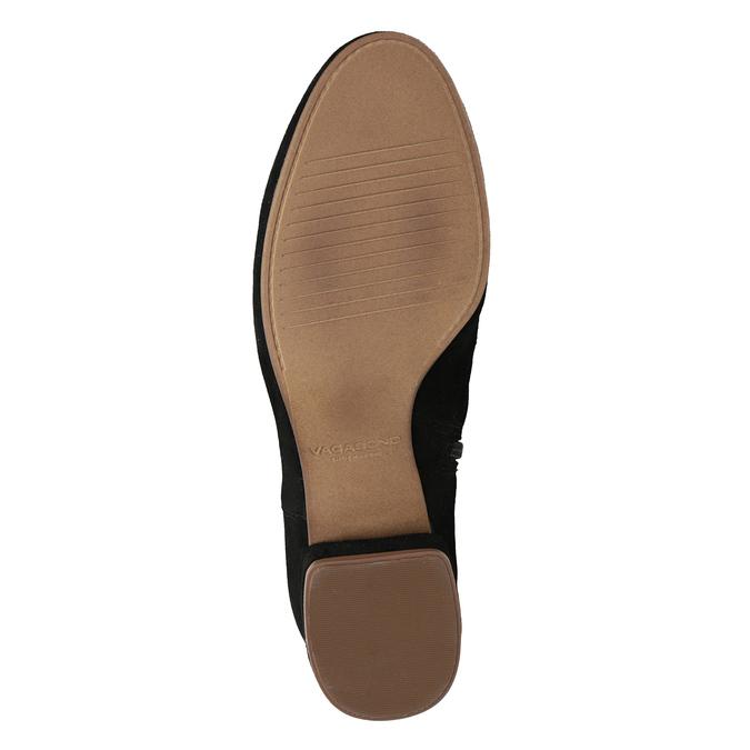 Členkové čižmy z brúsenej kože vagabond, čierna, 613-6040 - 17