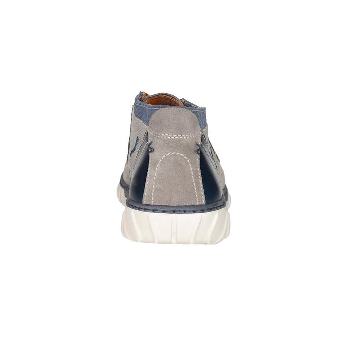 Členková pánska obuv bata, šedá, 843-2633 - 15