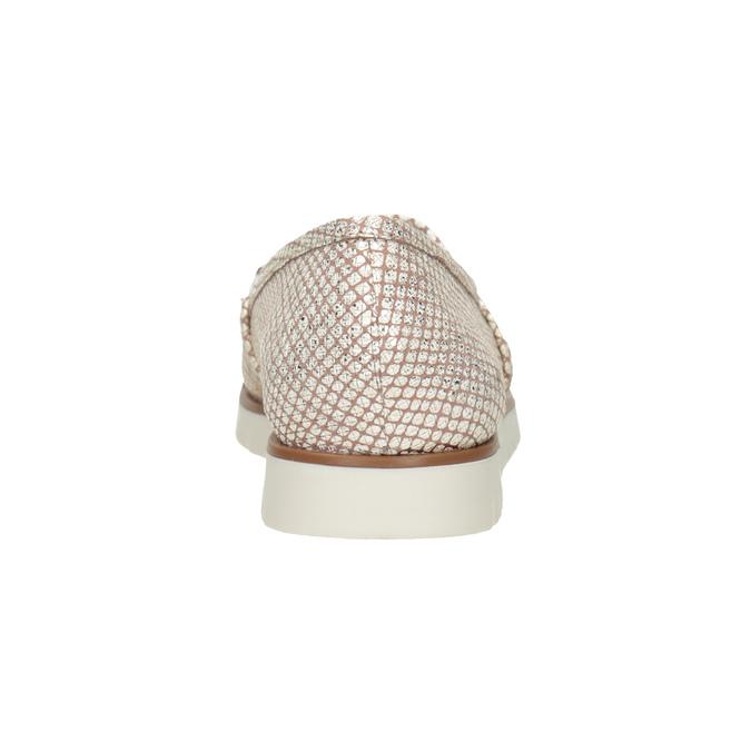 Dámske kožené Slip-on topánky na výraznej podrážke flexible, 536-5603 - 15