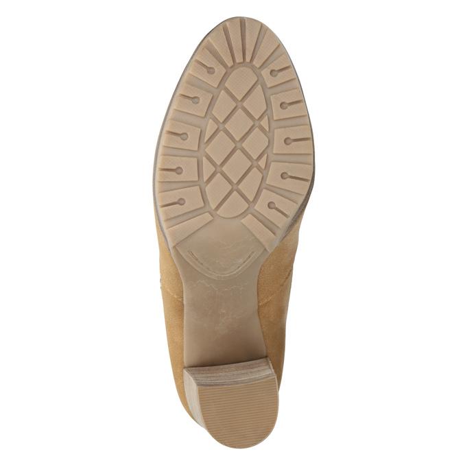 Hnedé členkové čižmy na podpätku bata, hnedá, 791-3615 - 17
