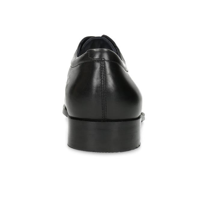 Čierne kožené poltopánky v Derby strihu climatec, čierna, 824-6980 - 15