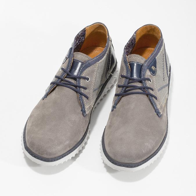 Členková pánska obuv bata, šedá, 843-2633 - 16