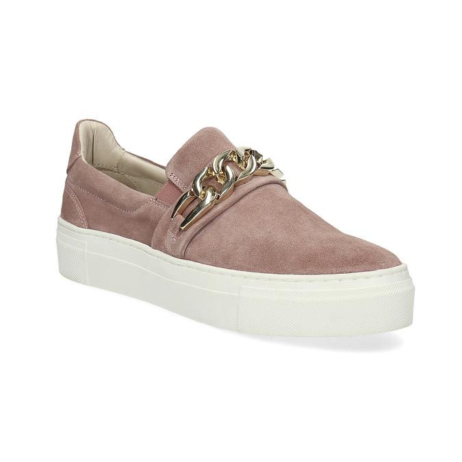 Kožená dámska Slip-on obuv bata, 513-5600 - 13