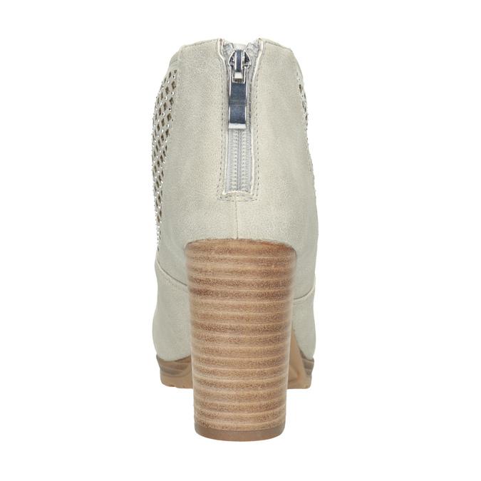 Členkové čižmy s perforáciou bata, šedá, 791-2615 - 16