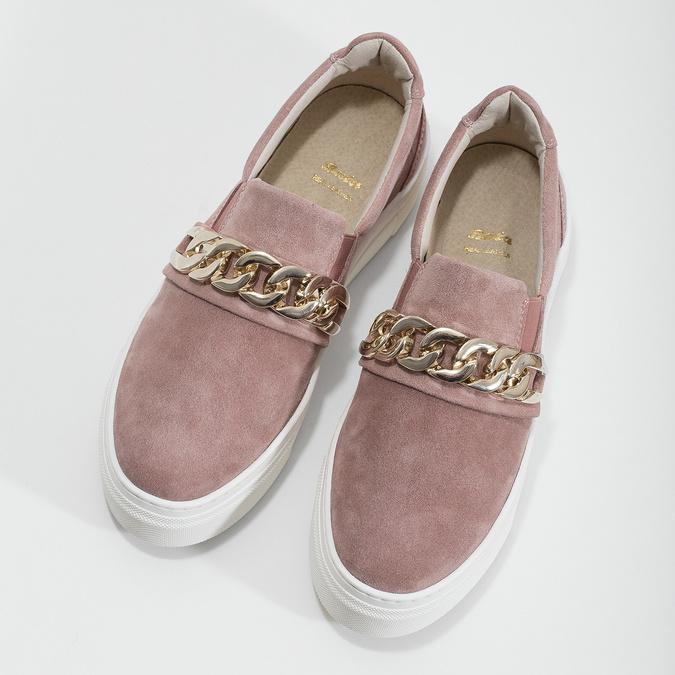 Kožená dámska Slip-on obuv bata, 513-5600 - 16