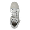 Strieborné dievčenské tenisky s kamienkami mini-b, strieborná, 329-2301 - 17