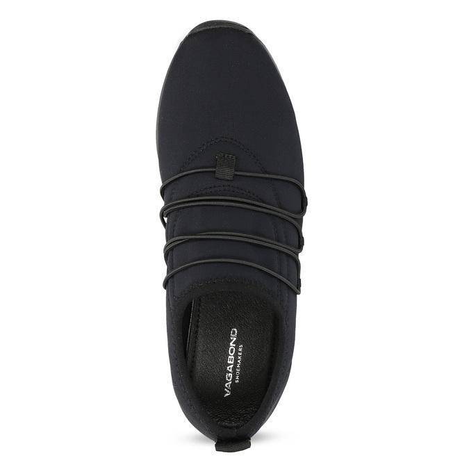 Slip-on tenisky s gumičkami vagabond, čierna, 619-6132 - 17