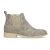 Kožené členkové topánky s kovovou aplikáciou bata, šedá, 596-2690 - 19