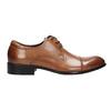 Pánske hnedé kožené Derby poltopánky bata, hnedá, 826-3983 - 26