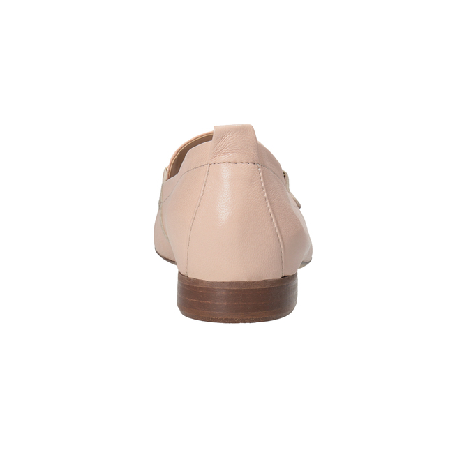 Kožené ružové dámske mokasíny bata, 516-5619 - 15