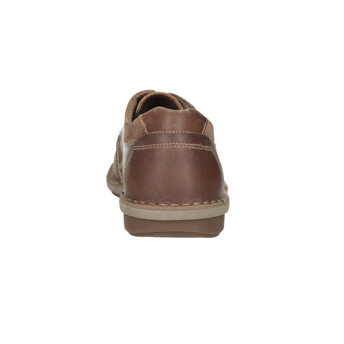 Hnedé kožené pánske poltopánky bata, hnedá, 826-4654 - 15