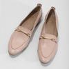 Kožené ružové dámske mokasíny bata, 516-5619 - 16