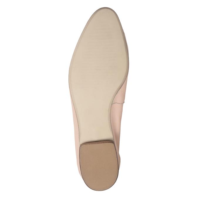 Kožené ružové dámske mokasíny bata, 516-5619 - 19