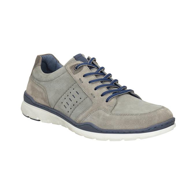 Pánske kožené tenisky bata, šedá, 846-2639 - 13