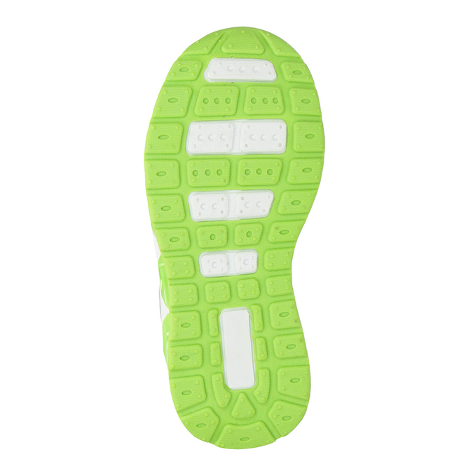Zelené detské tenisky s blikajúcou podrážkou mini-b, šedá, 211-2102 - 17