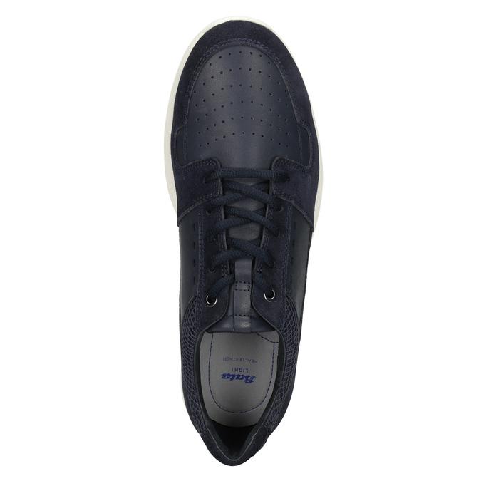 Pánske kožené tenisky bata-light, modrá, 844-9161 - 17
