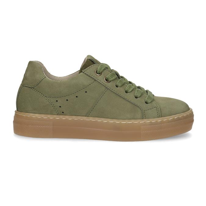 Detské zelené kožené tenisky mini-b, zelená, 416-7601 - 19