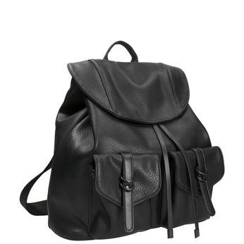 Čierny dámsky batoh bata, čierna, 961-6833 - 13
