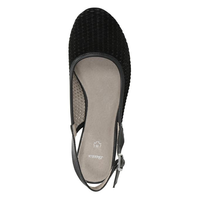 Lodičky šírky H s voľnou pätou bata, čierna, 623-6645 - 15