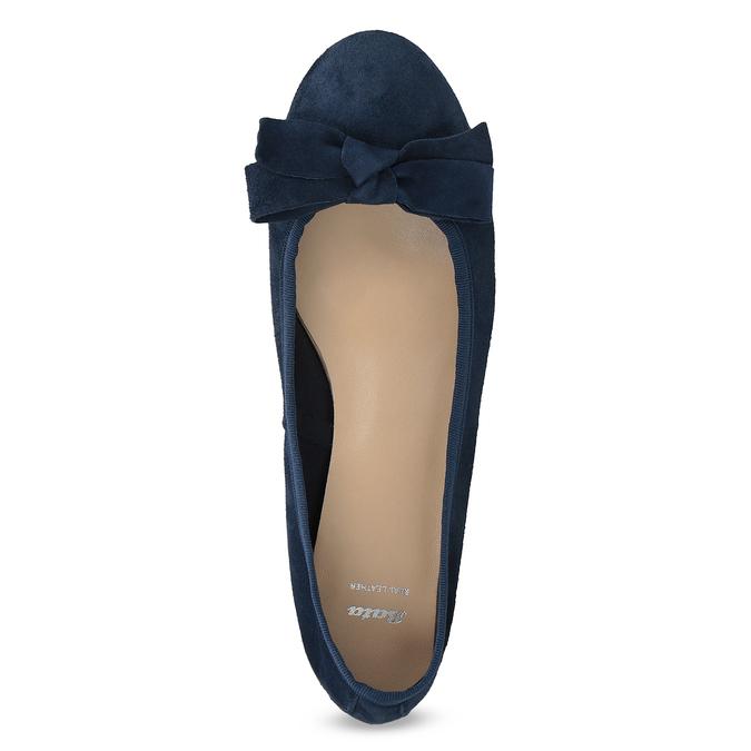 Modré baleríny z brúsenej kože bata, modrá, 523-9420 - 17